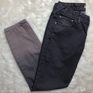 Free People Grey Ombré Skinny Jeans Size 27